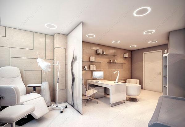 тканевый натяжной потолок в медицинском учреждении